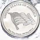 1 ounce HW Minting Company Flag & Eagle .999 Fine Silver Round