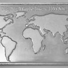10 ounces HWMC Big Big World .999 Fine Silver Bar
