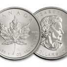 2014 1 ounce Canadian Silver Maple Leaf Round