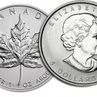 2013 1 ounce Canadian Silver Maple Leaf Round