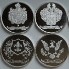 8 ounces HWMC Heraldry Mint .999 Fine Silver Rounds ~All Designs~