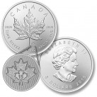 2015 1 ounce Canadian Silver Maple Leaf Round